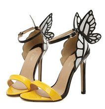 Size 4~9 Hot Butterfly High Heels Women Pumps Fashion Summer Women Shoes szapatos mujer