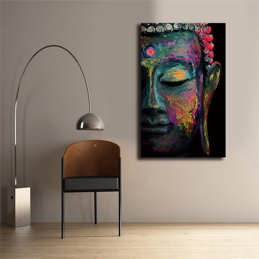 Buddha Canvas Painting Wall Art poster meditation Abstract cheap ...
