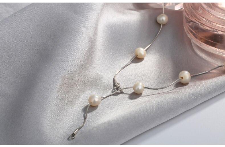 2019 S925 argent perle collier court clavicule chaîne de luxe bijoux perle colliers choker pour les femmes amour cadeau