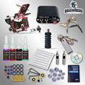 Complete Beginner Tattoo Kit Machine Guns Inks Needles Tattoo Power Supply  D1025GD