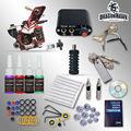 Complete Beginner Tattoo Kit Machine Guns Inks Needles Tattoo Power Supply  D1025GD