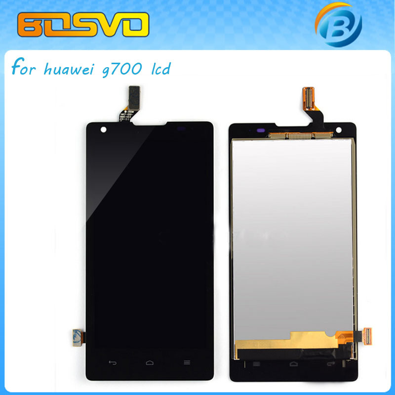 Warranted screen For Huawei g700 G700-T00 lcd display with touch digitizer white and black color +tools one piece free shipping free dhl ems shipping warranted lcd for huawei g700 screen display with touch digitizer white black color tools 10 pieces a lot