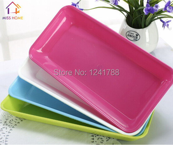 4 pcssetbig size plastic orgainzer boxes food plates fruits dishes