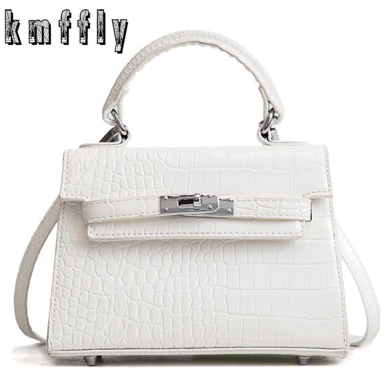 3a301f63fca7 Мода 2019 г. белый женский квадратный мешок качество из искусственной кожи  для женщин Крокодил вместительная