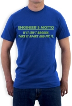 Retro T Shirts Gildan Men'S Crew Neck Engineer'S Motto – Funny Engineering Joke Broadcloth Short T Shirt