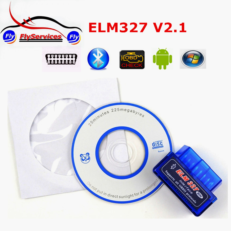 Prix pour 20 pcs/lot Super Mini Elm327 Bluetooth V2.1 OBD2/OBDII ELM 327 V2.1 Universal Auto Diagnostic Scanner Fonctionne Sur Android couple