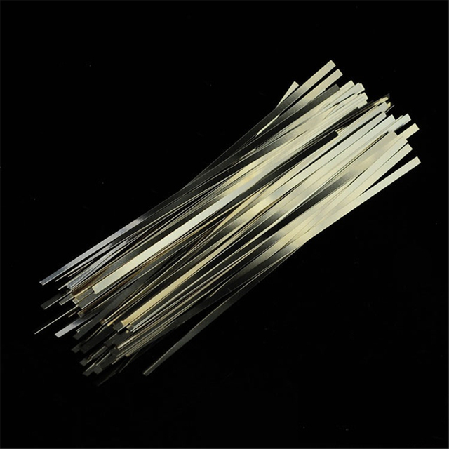 100pcs/lot 0.15mm x 8mm x 25mm Quality low resistance 99.96% pure nickel Strip Sheets for battery spot welding machine