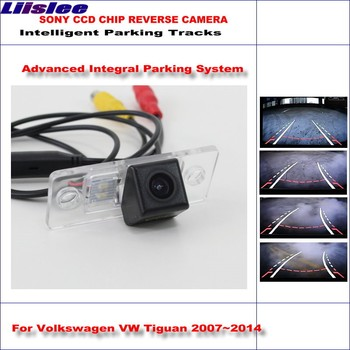 Liislee Backup Rear Reverse Camera For Volkswagen VW Tiguan 2007~2014 / HD 860 * 576 Pixels Intelligent Parking Tracks