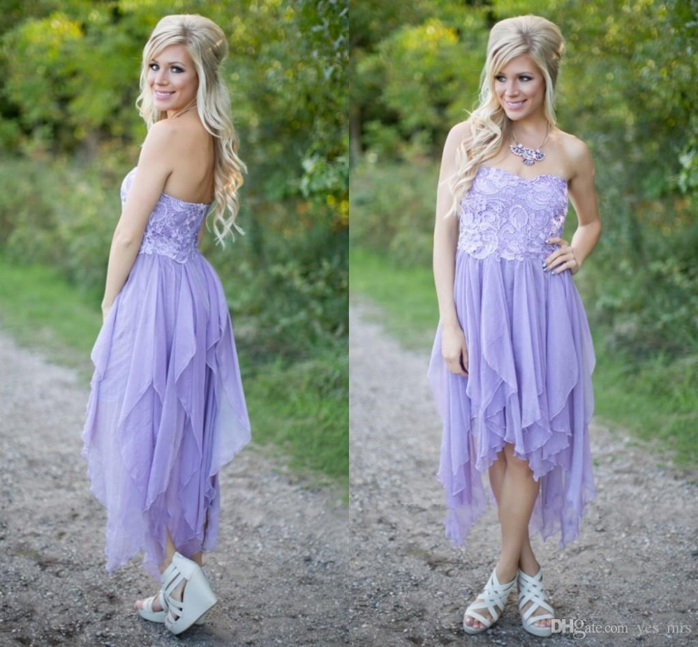Online get cheap lilac bridesmaid dress short aliexpress country style lace short teal lilac bridesmaid dresses 2016 tea length ruffles chiffon beach cheap wedding ombrellifo Images