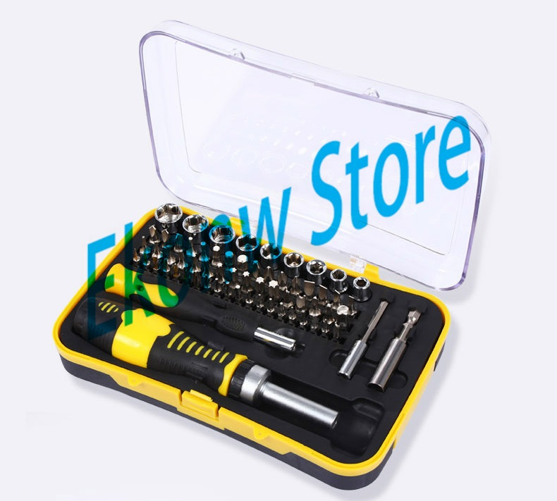 65 In1 Tool Box Multi-function screwdriver set ratchet wrench socket Household Electrical maintenance tools