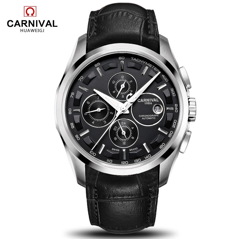relogio masculino New Carnival Automatic Watches Men Mechanical 
