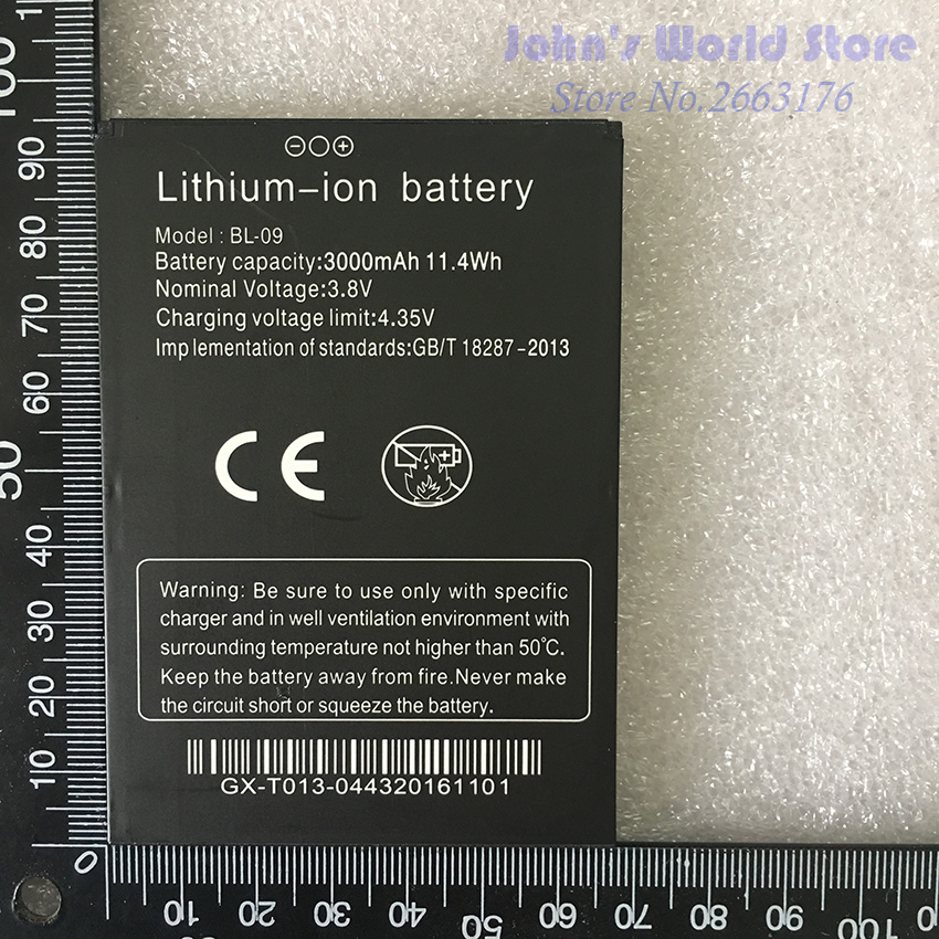 For THL T9 Pro New Original Battery <font><b>3000mAh</b></font> Battery BL-09 for THL T9 Pro Mobile <font><b>Phones</b></font> Smartphone Replacement Battery