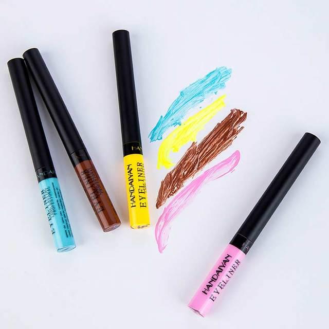 HANDAIYAN Matte Liquid Eyeliner Bright Color Waterproof Eye Liner Pencil Long-Lasting White Eye Liner Pen Eyes Makeup Cosmetics 5