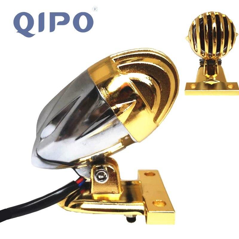 QIPO Motorcycle Tail Light Brake Stop Light License Plate Bulbs Bracket Taillight Brass Aluminum font b