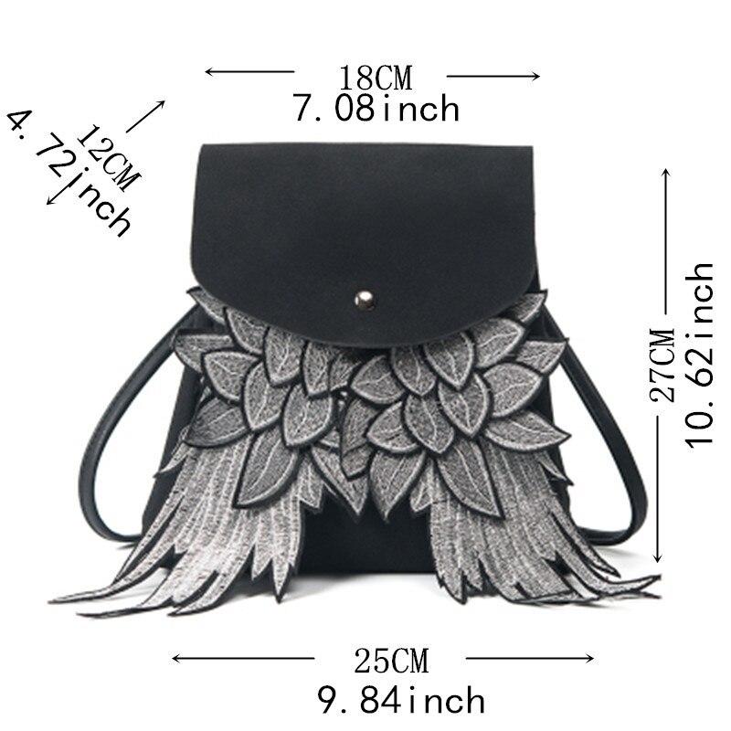 d91ae195d0fd Обувь для девочек милый рюкзак женщина крыло дизайн ...