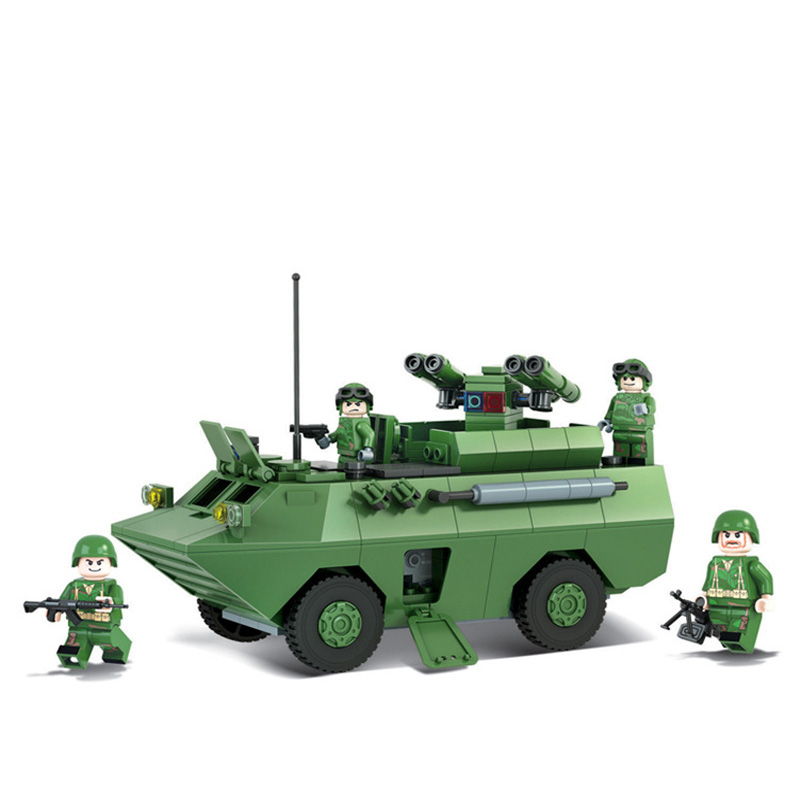New c Military Model Toy Building Blocks Marine Hero Red Arrow 8 anti-tank Missiles Educational Assembled Bricks Kids Toy Gifts
