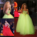 Free Shipping Sparkling Arabic Star Myriam Fares Dress Sweetheart Heavy Beaded Top Ball Gown Tulle  Celebrity Dresses