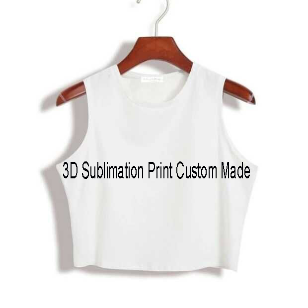 8ddc41a55 6 Styles Custom Made Create your own designs 3D Sublimation Print Milk Silk  Crop Tops