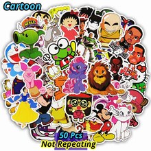 Mixed 50 Pcs Funny Cartoon Stickers Fixed Style Waterproof Snowboard Luggage Laptop Motorcycle Television Doodle Sticker