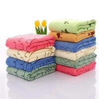 1 pc/lot 70*140 cm tela de microfibra bath towel absorción de agua suave de secado rápido mujeres chica de moda de lavado uso diario bathtowel