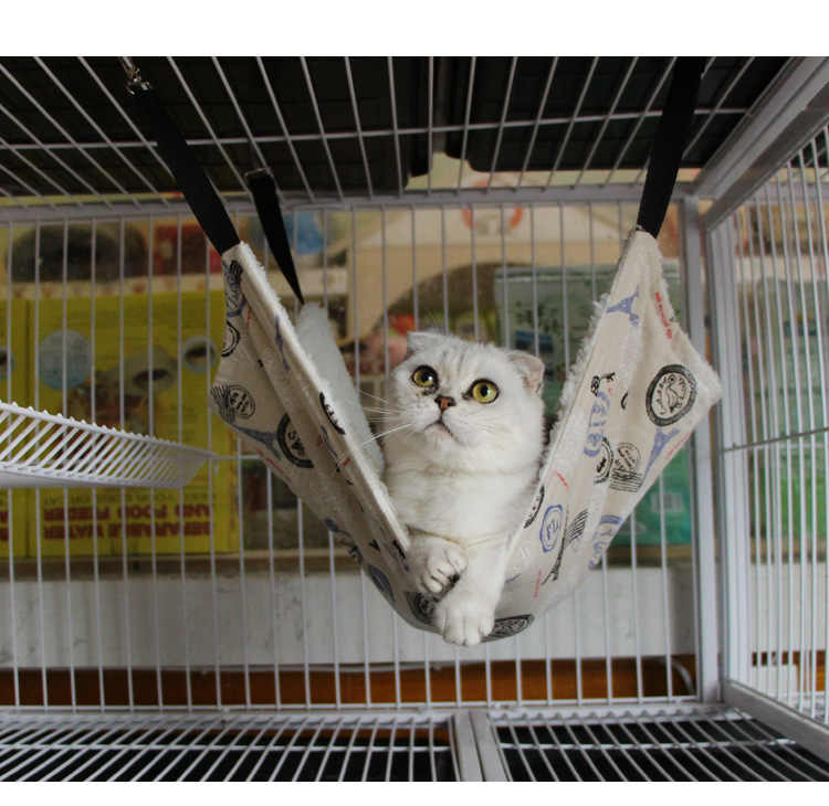 7 패턴 귀여운 애완 동물 폴리 에스터 쥐 토끼 치와와/고양이 케이지 해먹 작은 애완견 강아지 강아지 침대 커버 가방 담요 개 고양이 홈 매트