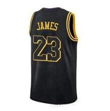 size 40 d60f3 35855 2018 Nuovo Los Angeles Jersey Laker 23 LeBron James Lakers La Città Whish  Marchi Del Ricamo 100% Cucita Giallo Viola Bianco nero