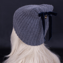2016 New arrival winter high quality Wool blended caps. Personality bowknot woman cashmere Beanies Knitting hat / gorros
