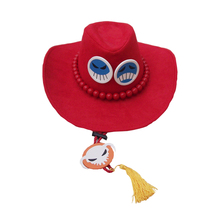 цена на Brdwn Unisex One Piece Fire Portgas D Ace Cosplay Cowboy Hat