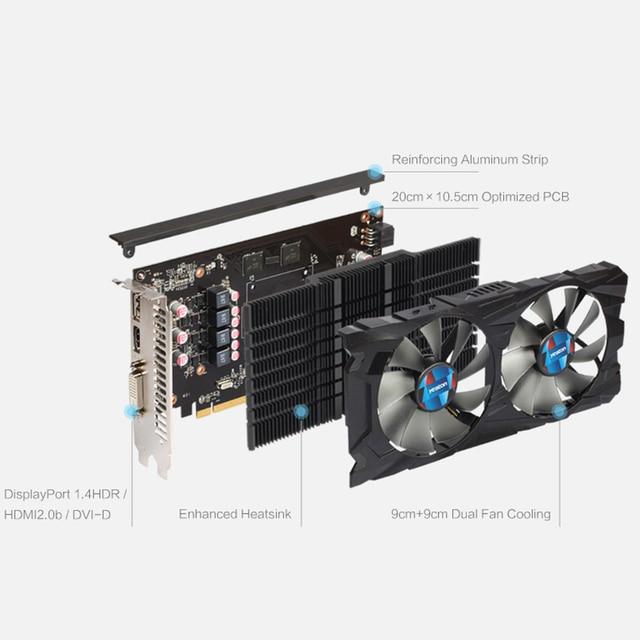 Yeston Radeon RX 550 GPU 4GB GDDR5 128bit Gaming Desktop computer PC Video Graphics Cards support DVI/HDMI 4