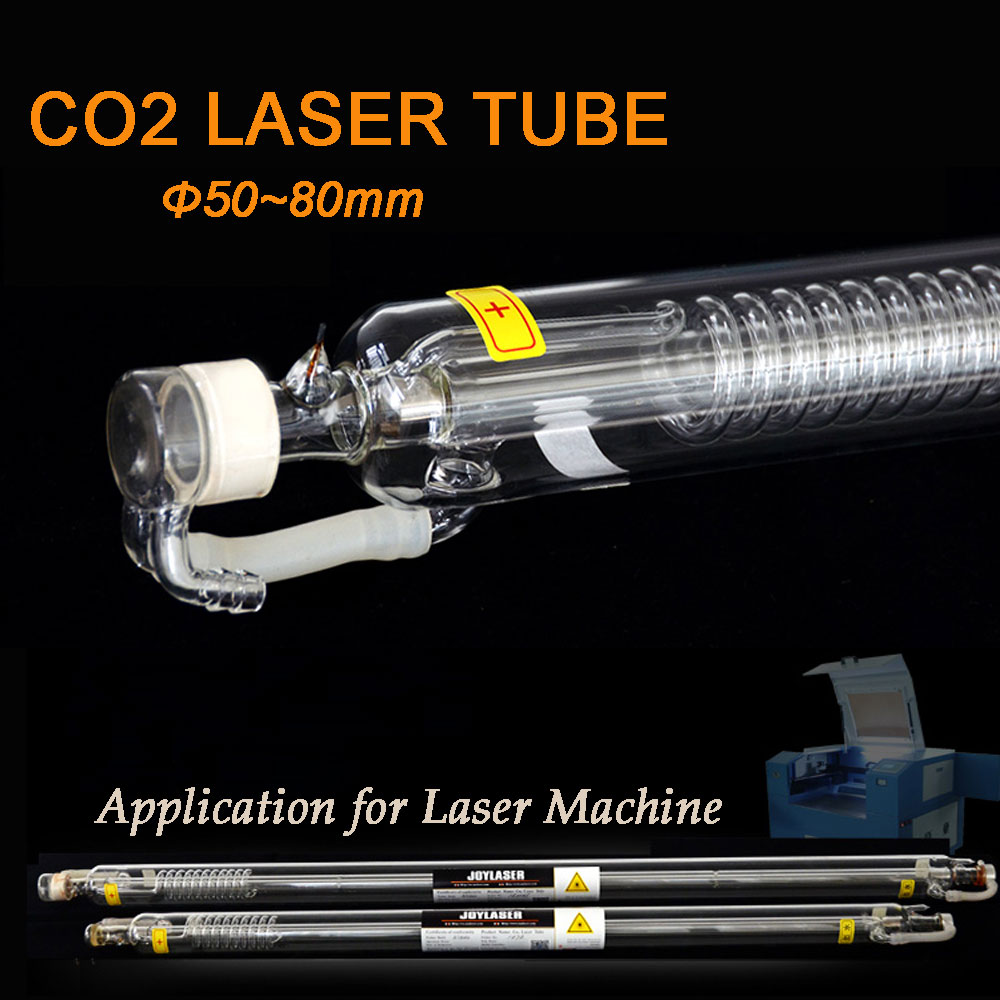 CO2 Laser Tube 40W 50W 60W 80W 100W 120W Glass Head Laser Lamp for Co2 Laser Engraving Cutting Machine 50w co2 laser tube working for 60w co2 laser engraving machine