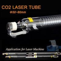 Co2 laser tubo 40w 50w 60w 80w 100w 120w cabeça de vidro lâmpada laser para máquina de corte gravura a laser co2