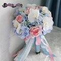 Искусственный букет фиолетовый букет свадебный рамо novia букет флер mariage bruidsboeket свадебный букет невесты цветы
