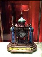 Статуя ремесел в Европейском стиле настенные часы Перегородчатой Антикварные Часы