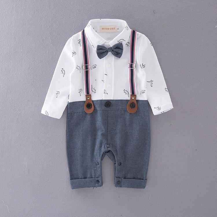 Baby Boy Clothes Y Back Suspenders Bow tie Set autumn ...