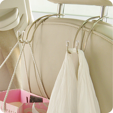 1 Pair Car Hook Holder Stainless Steel for Bag Purse