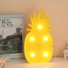 MUQGEW Decorative Party LED Bedroom Cartoon Pineapple Table Coconut Tree NightLight DIY Party decor lights best gift(China)