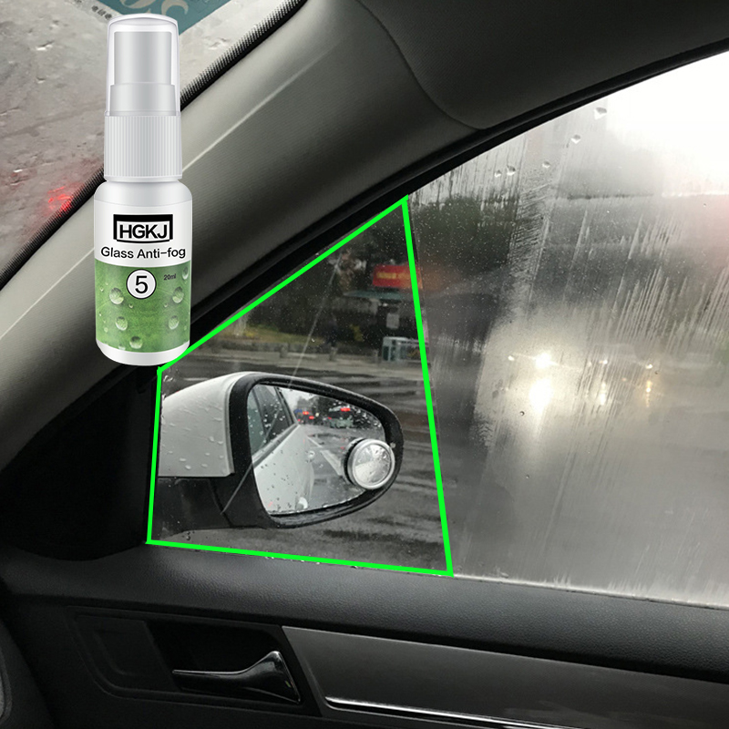 Auto Rear View Antifog Agent 20ml 50ml Spray Anti-fogging Car Windshield Glass Helmet Goggle Coating Maintenance Accessories