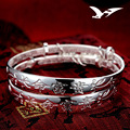 S999 Sterling Silver Children 's Silver Bangle Men's and Women's Babies' Foot Silver Long Life' s rich silver bracelet wholesale