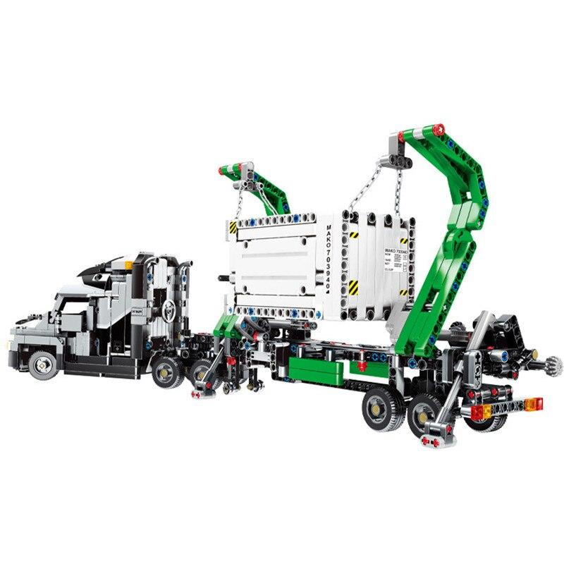 1202pcs-City-Engineering-Mark-Container-Big-Truck-Vehicles-Car-Building-Blocks-Compatible-Technic-Bricks-Children-Toys (2)