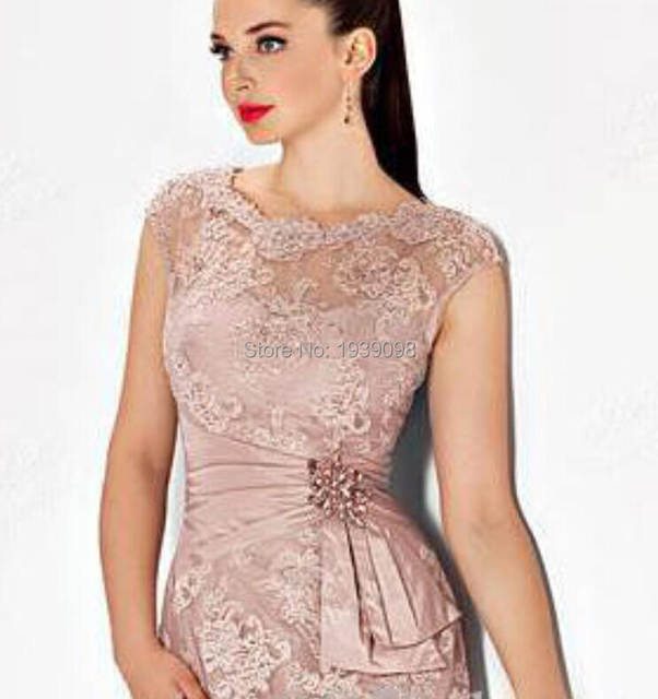 bcd944f4b21 Online Shop Vestidos Para Boda 2016 Short Pink Mother of The Bride Dresses  Plus Size Knee Length Lace Evening Gowns Formal Bride Mom Dress