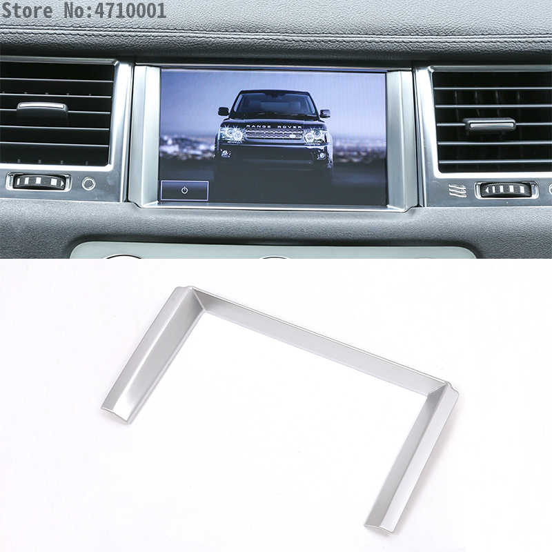 ABS Chrome Car GPS Navigation Screen Frame Trim For Land Rover Range Rover Sport RR Sport 10-13 Car-Styling