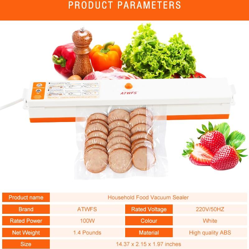 Image 4 - ATWFS Vacuum Sealer Packing Sealing Machine Best Portable Food Vaccum Sealer Kitchen Packer with 15pcs Vacuum Bag for Food Savermachine vacuumfood vacuumfood vacuum sealer -