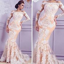 kejiadian Mermaid Evening Dresses Long Sleeve Prom Dress