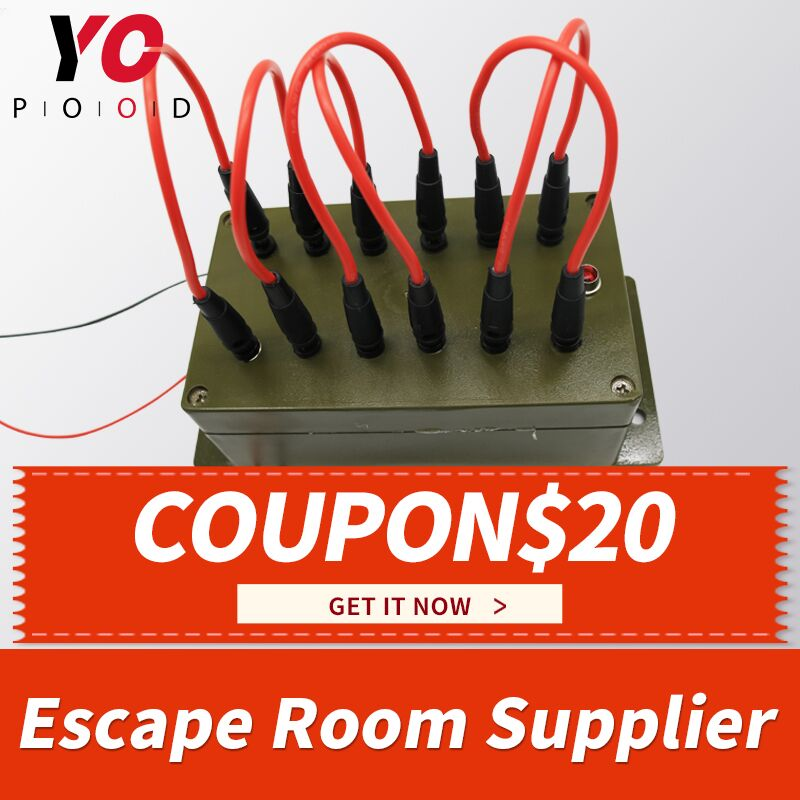 Plug Wire Box Escape Room Props lock Game all the wires are inserted into the right sockets to open the door chamber room YOPOOD
