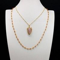 WT-N673 Nuovo modello rosa del quarzo della collana 3mm sfaccettato perline di pietra all'ingrosso rosario catena per monili che fanno come regalo