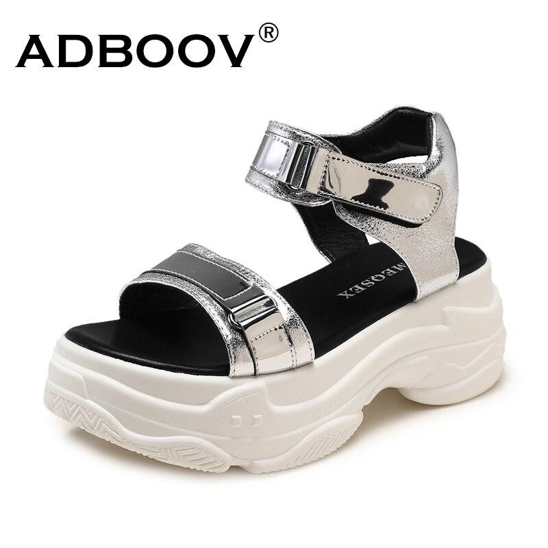 ADBOOV nouvelle plate-forme sandales femmes semelle épaisse été Chunky chaussures 2 pièces sandales plates dames Sandalias Mujer 2019