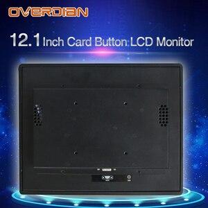 "Image 5 - 12 ""resistancetouch التحكم الصناعي lcd monitorvga/usb واجهة 1400*1050 المعادن قذيفة تركيب بطاقة مشبك"