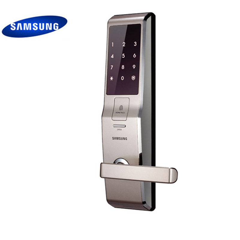 English Version Big Mortise Silver Color SAMSUNG Fingerprint Digital Door Lock SHS-H705 (fingerprint+password+key) цены