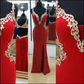 Prom Dresses 2016 V-Neck Sleeveless Backless Applique Chiffon Mermaid Evening Dress Long Party Dress MF316