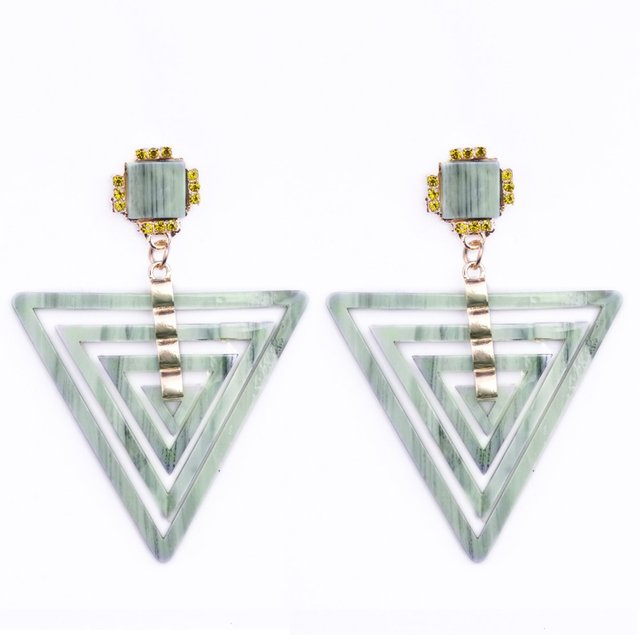 2017 Новая Мода Многоуровневая Hollow Треугольник Орать Франция boucles d'oreilles залить ле femmes